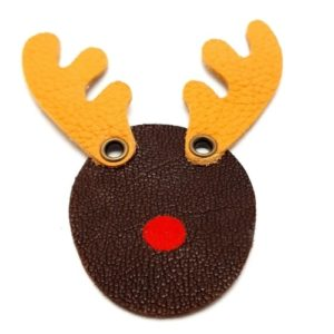 Magnet en cuir «Rennes du Père Noël»