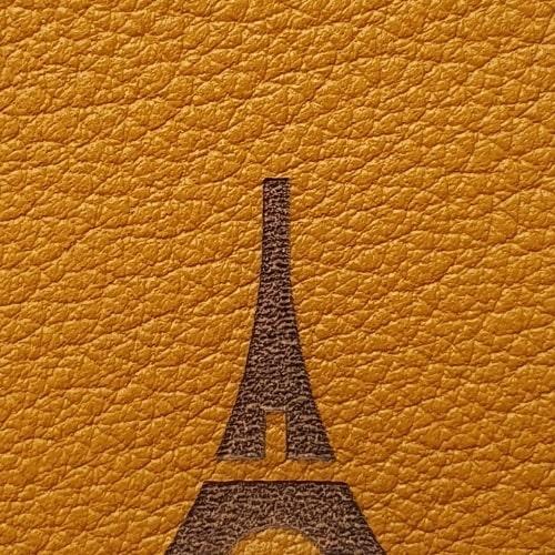 Marque-page cuir à personnaliser avec phrase image fabriqué à Paris - upcycling cadeau souvenir personnalisé de Paris - Mon Souvenir de Paris by Atelier Pato