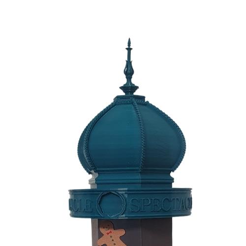 Colonne Morris Fabriqué Paris tournante sur base | Présentoire PLV support pour photos magnets et produits | Tête | Mon Souvenir de Paris by Atelier Pato