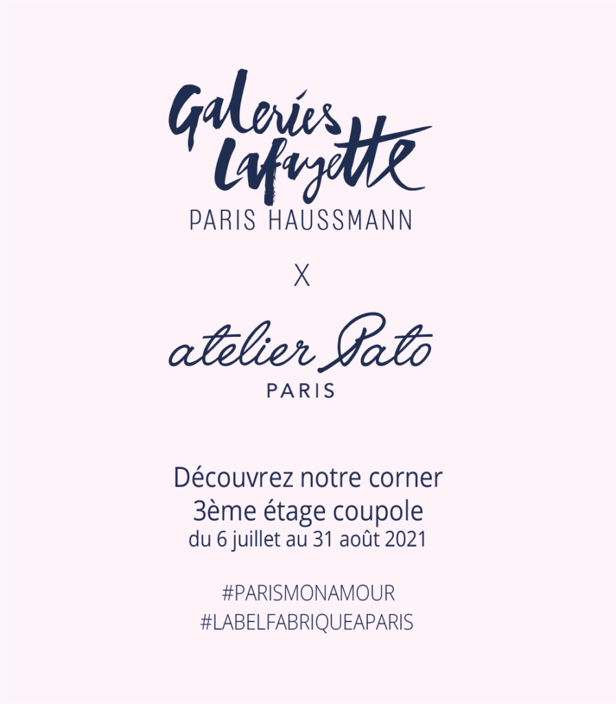 Affiche Corner Galeries Lafayettes Paris Haussmann x Atelier Pato Paris Opération Paris mon Amour du 6 juillet au 31 août 2021